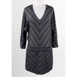 Athleta Chevron Sparkle Lust Drop Waist Dress